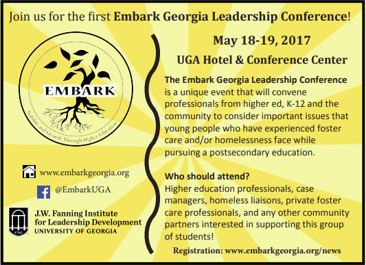 EMBARK 2017 CONFERENCE SAVE THE DATE